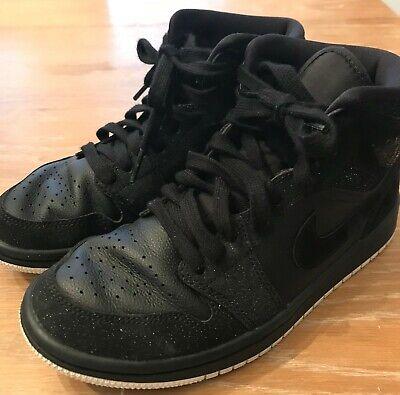 Air Jordan 1 Mid 'Black Glitter' Size 6