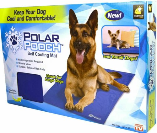 """Polar Pooch Self Cooling Mat 22/"""" x 33/"""" Dogs Large /& Small NIB GREAT FOR CATS TOO"""