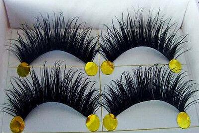 BEST! 5 Pairs Long Thick Handmade Makeup Fake False Eyelashes Eye Lashes