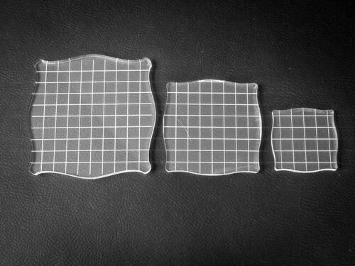 Acrylic lightweight clear Stamping blocks 3 pack stamp craft Grid card