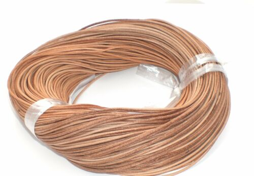 10 metros colgante naturaleza aproximadamente 2mm joyas accesorios de cuero cuero cuerda correa marrón
