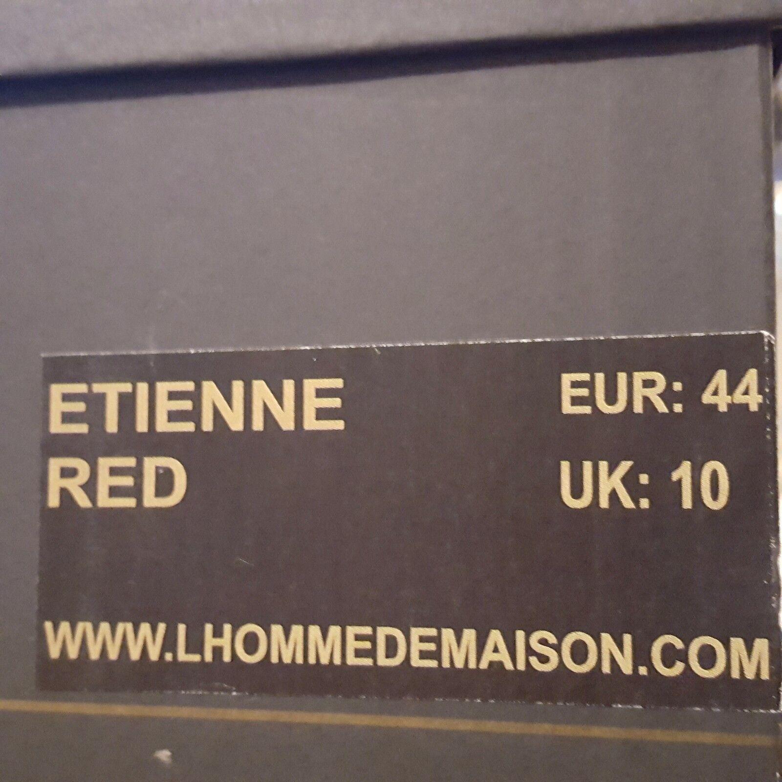 L'HOMME DE MAISON BY BRIAN NICKSON ETIENNE ETIENNE ETIENNE rot Turnschuhe Größe UK10 UK8 232c81