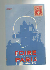 1946 Paris France Air Show Postcard Cover # B128