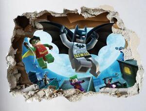 Details Zu Batman 3d Xxl Wandtattoo Aufkleber Wand Sticker Deko Kinderzimmer Kinder