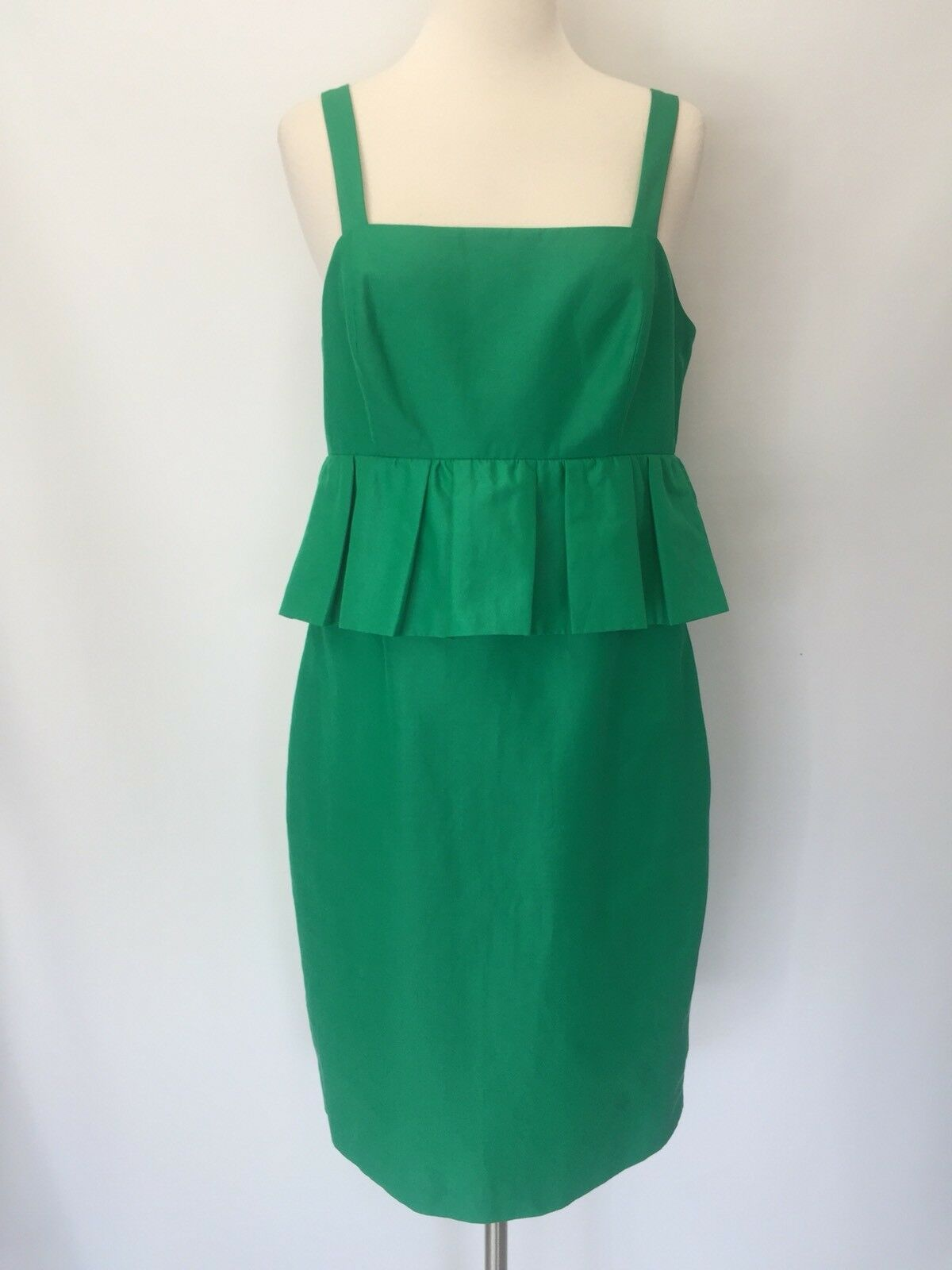 New J Crew Peplum Dress In Classic Failed Sz 8 Green G6482