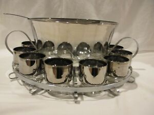 Mid-Century-Silver-Fade-Complete-Punch-Bowl-Set-Dorothy-Thorpe-Vintage-Retro-15p