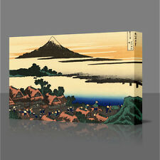 "HOKUSAI Dawn At Isawa Mt Fuji LARGE 16"" Framed Canvas Art Picture Japan Japanese"