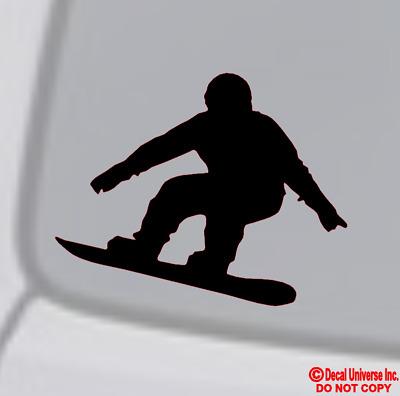 SNOWBOARDER SNOWBOARDING Vinyl Decal Sticker Car Window Wall Bumper Dope Trick