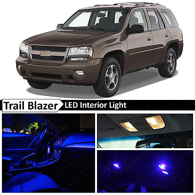 TOOL 13 x Blue Interior LED Lights Package For 2002-2009 Chevy Trailblazer