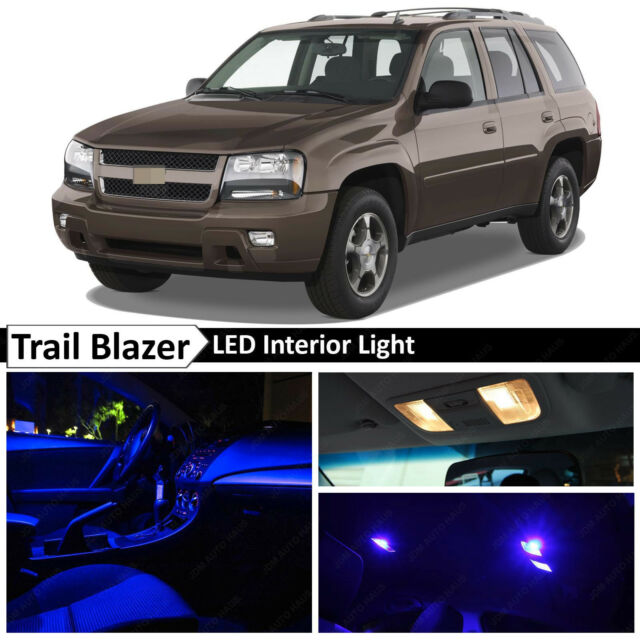 10x Blue Interior Led Lights Package Kit For 2002 2009 Chevy Trailblazer