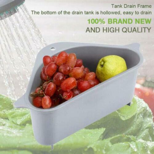 Kitchen Multi-purpose Basket Triangle Storage Holder Drain Shelf Storage Rack M1
