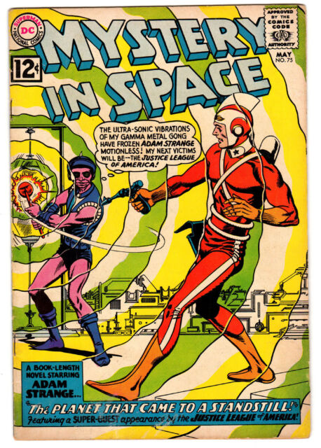 MYSTERY IN SPACE #75 4.0 TAN TO CREAM PAGES SILVER AGE-EARLY JLA CROSSOVER