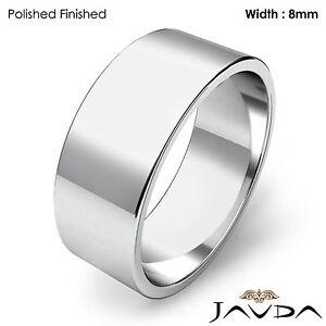 Image Is Loading Men Wedding Band Flat Pipe Cut Plain Ring