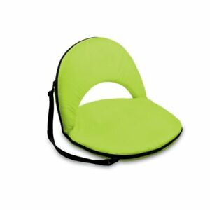 Astounding Picnic Time Oniva Portable Lime Recreation Recliner Seat Inzonedesignstudio Interior Chair Design Inzonedesignstudiocom