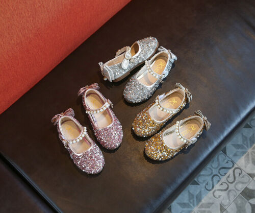 Fashion Spring Kids Princess Shoes Children Girls Party Pageant Shoes Flats