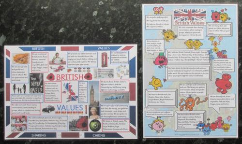 Os valores britânico A4 cartazes ~ ofsted ~ berçário ~ childminder ~ Escola ~ 5 Projetos!
