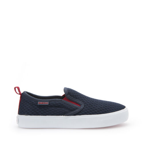 GEOX SCARPE JUNIOR BIMBO SLIP-ON IN TELA NAVY//RED LINEA KIWI J62A7B