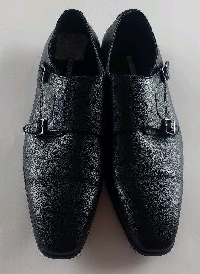 Madden P-Lyfe men noir leather , upper monk strap chaussures Taille 10 .
