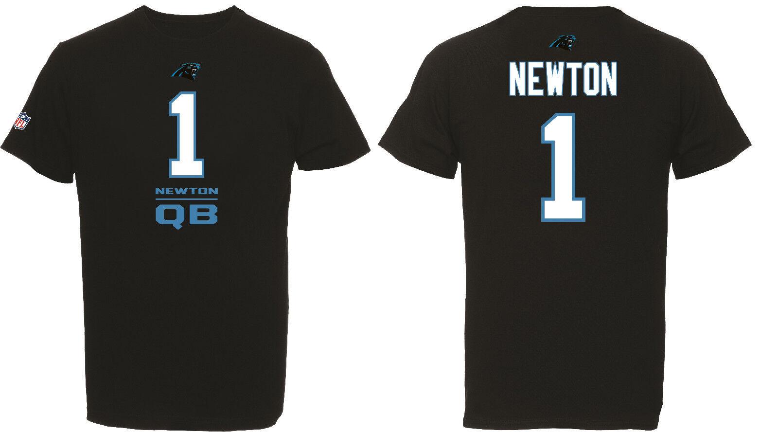 NFL Football T-Shirt Carolina Panthers Cam Newton 1 QB Line Up Trikot Jersey b020605f8