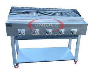 Image Is Loading 5 Burner Gas Charcoal Bbq Grill Char Grill