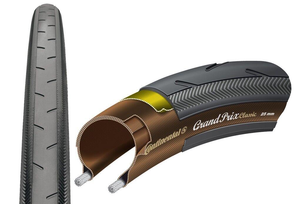 Continental Fahrrad Reifen Grand Prix Classic 25-622(28×1,00″)700×25C Faltreifen