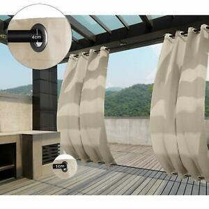 Clothink Outdoor Curtains Grommet Top Amp Bottom Blackout