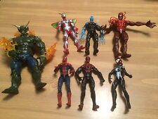 Marvel Legends Lot Spider-man Baf Green Goblin Toxin Superior Loose Electro Girl