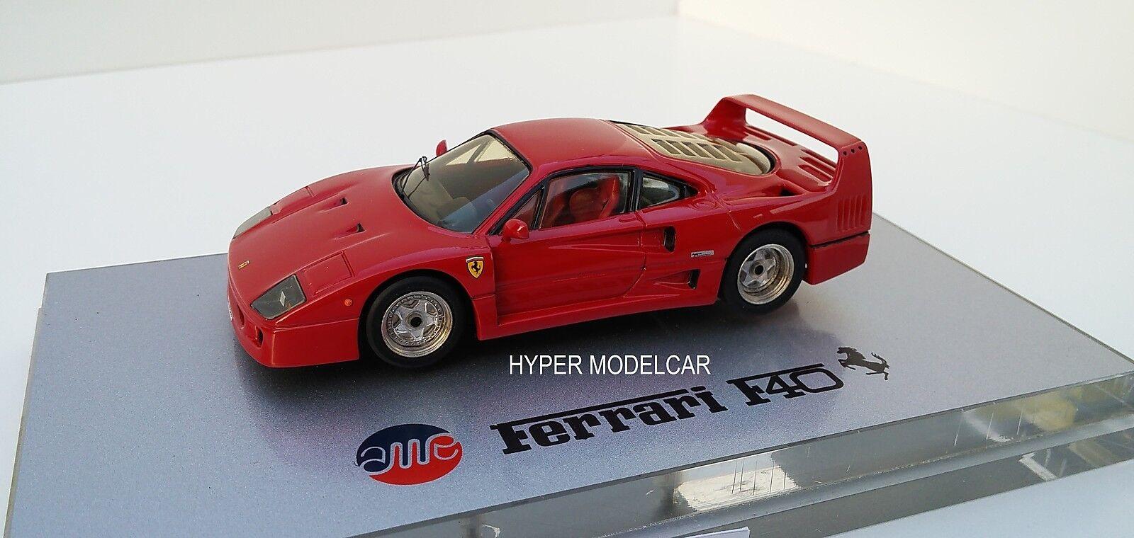 AMR 1 43 Ferrari F40 rue  1987 rouge Factory built  haute qualité