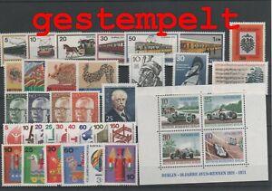 Germany-Berlin-vintage-yearset-1971-Postmarked-Used-complete-More-Sh-Shop