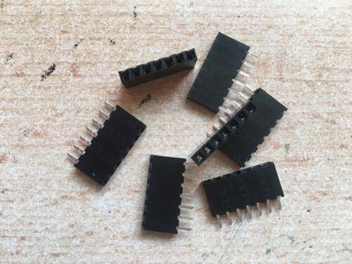 """Harwin M20-9820706 7 VIE 0.1/"""" verticale singola riga PCB SOCKET 5 PEZZI Z2989"""