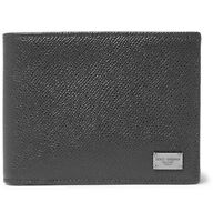 Dolce & Gabbana Pebble-grain Leather Billfold Wallet Mens Made In Italy
