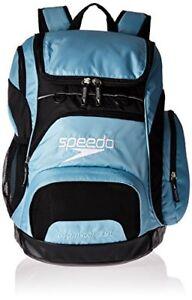 08a9f233a9 NEW Speedo Large Teamster Backpack Light Blue Black 35 Liter FREE ...