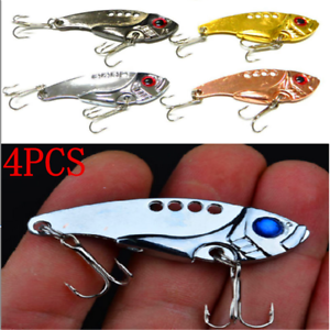 4pcs-SET-Lots-Fun-Metal-Fishing-Lures-Bass-CrankBait-Spoon-Crank-Bait-Tackle