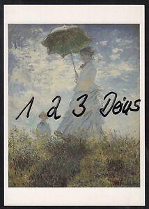 970q Ansichtskarte Kunstler Ak Claude Monet Der Spaziergang Frau