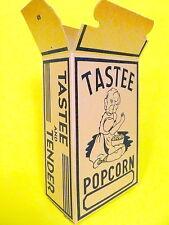 vintage 1930's nos Columbus, Oh Theatre Popcorn Box -TASTEE & TENDER - 1 /$5.99