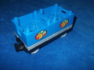 LEGO-DUPLO-VILLE-EISENBAHN-Waggon-WELTKUGEL-aus-5609-Guterwaggon-Palletten