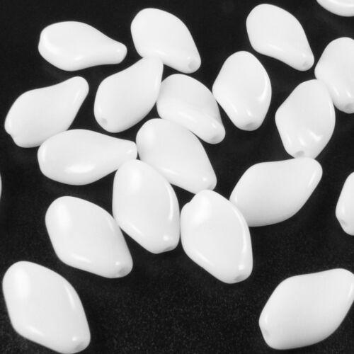 25 St abalorios 12mm blanco rombo teniendo Kaden bastelperlen para auffädeln