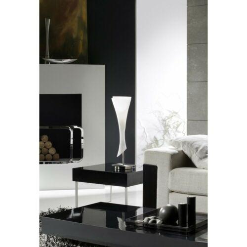 Lampada da comodino lumetto moderno 1 luce nickel con vetro MAN zack-0774