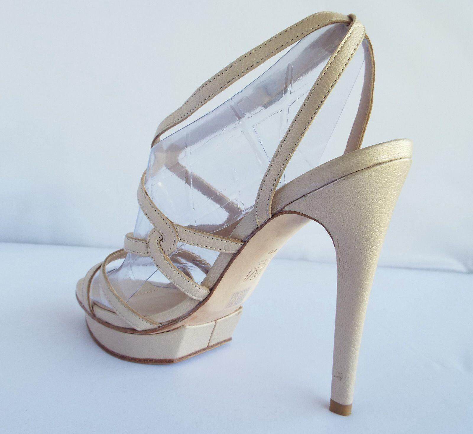 New Pelle Moda Farah2 Dress Sandals Cream Cream Cream Pearlized Nappa Size 9 M ce29d9