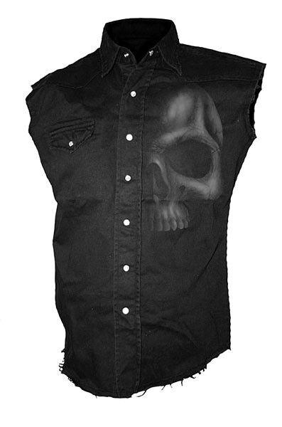 Spiral Shadow  Worker Shirt Hemd Top Gothic