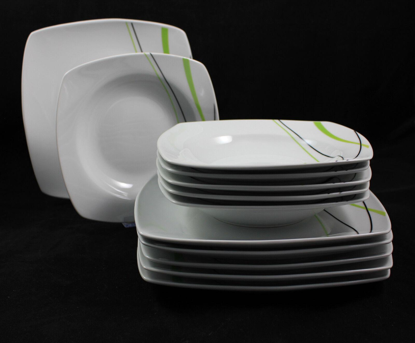 Servicio de mesa platos pizarra pizarra pizarra para vajilla 12 per 24tlg