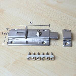 2 inch Stainless Steel Door Window Lock Latch Slide Barrel Bolt Clasp Set