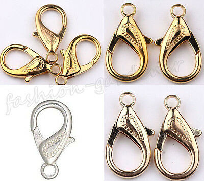 Wholesale 5/10Pcs Silver Gold Bronze Plated Lobster Clasps Hooks Findings 30mm