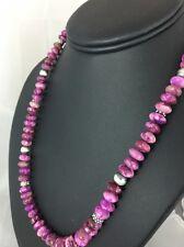Native American Purple Sugilite Bead Sterling Silver Necklace