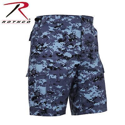 PüNktlich Us Rothco Sky Blue Digital Army Bdu Combat Shorts Hose Kurz M / Medium