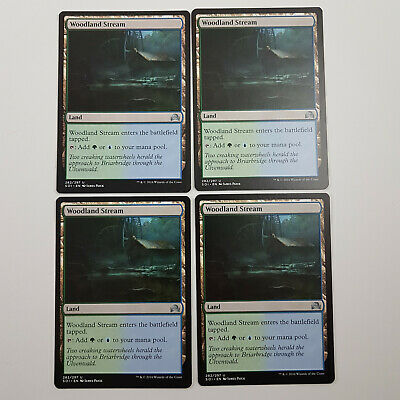 FOIL WOODLAND STREAM X4 Shadows Over Innistrad SOI Magic MTG MINT CARD