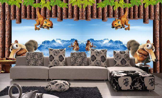 3D Affe und Maulwurf 76782 Fototapeten Wandbild Fototapete BildTapete Familie DE