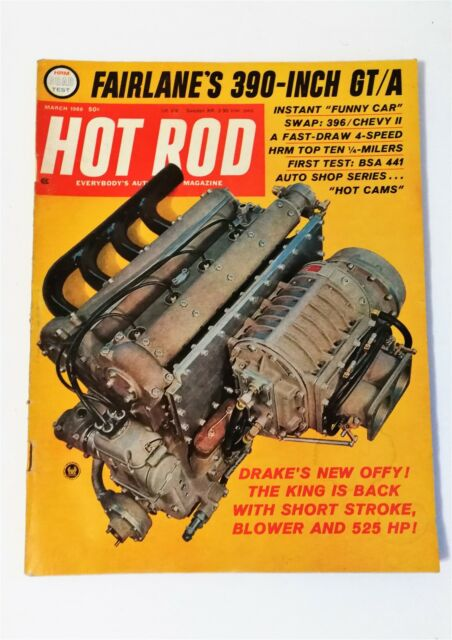 Hot Rod Magazine March 1966 Ford Fairlane 500 BSA Victor 441 Motorcycle Chevy II