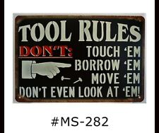 Man-cave rules Funny Tin Sign Bar Garage signTSC190
