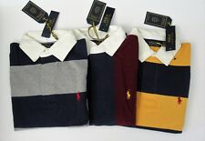 NEW Ralph Lauren Mens LS Solid Red Iconic Rugby Cotton Shirt Sz M L XL NWT $99